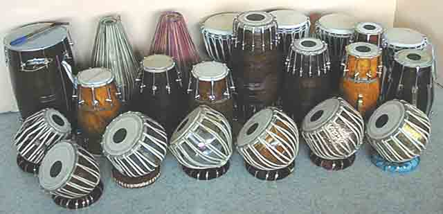 Indian percussion instruments Tabla, Pakhawaj