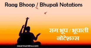 Notations of Raag Bhoop/ Bhupali