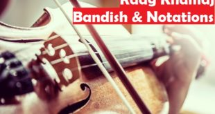 Raag Khamaj Notations and Bandish