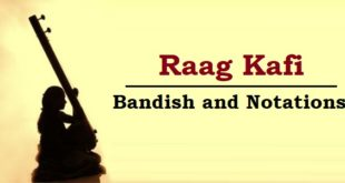 Raag Kafi bandish and notations