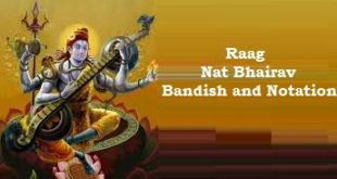Raag Nat Bhairav bandish & notations